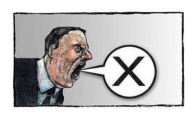 Democracy Drawing - Vote by Chris Van Es