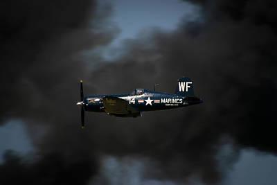 Airshows Photograph - Vought F4u Corsair by Adam Romanowicz
