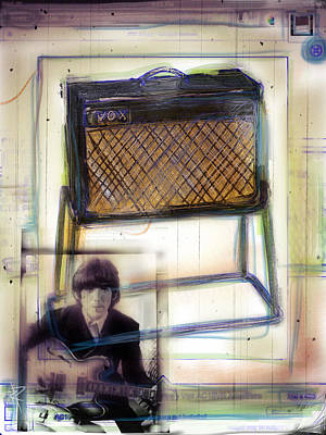 Paul Mccartney Mixed Media - Vox And George by Russell Pierce