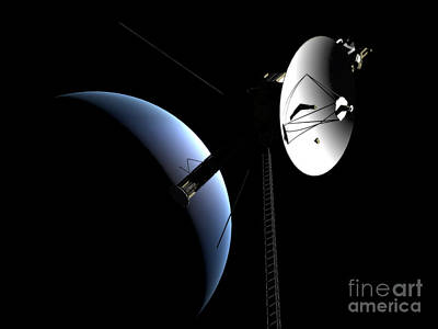 Interplanetary Space Digital Art - Voyager 1 At Neptune by Rhys Taylor