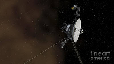 Interplanetary Space Digital Art - Voyager 1 Spacecraft Entering by Stocktrek Images