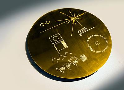 Voyager Spacecraft Plaque, Artwork Print by Science Photo Library