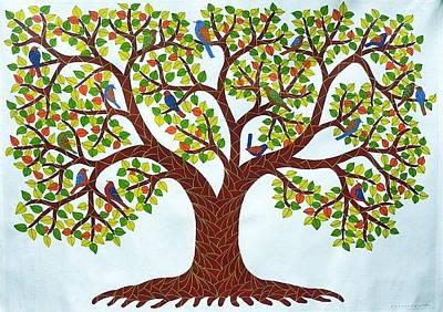 Venkat Painting - Vrss 86 by Venkat Raman Singh Shyam