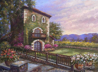 Sattui Painting - V.sattui Winery Sunrise by Gail Salituri