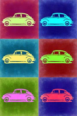Vw Beetle Pop Art 2 Print by Naxart Studio