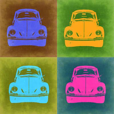Vw Beetle Painting - Vw Beetle Pop Art 6 by Naxart Studio