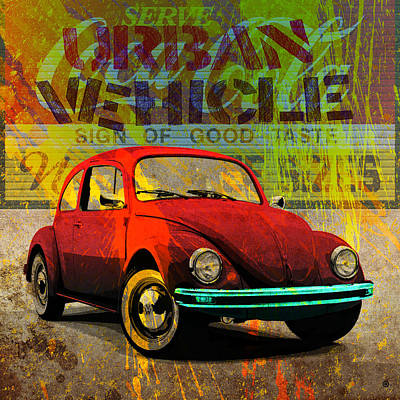 Vector Digital Art - Vw Bug by Gary Grayson