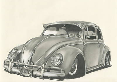 Paper Images Drawing - VW by Raquel Ventura
