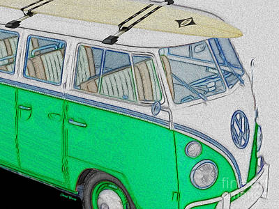 Hippie Van Photograph - Vw Surf Bus by Cheryl Young