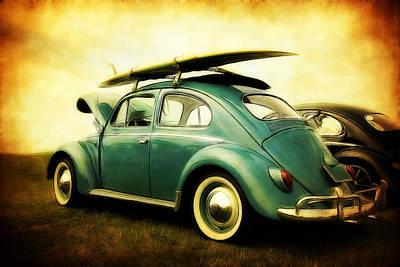 Volkswagen Surfer Bug Print by Athena Mckinzie