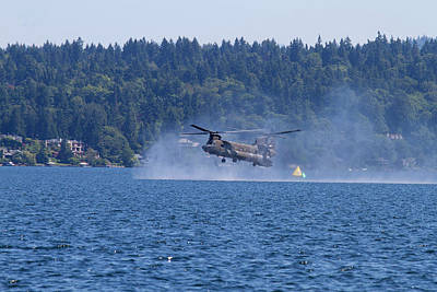 Helicopter Photograph - Wa, Seattle, Seafair, Us Army Ch-47 by Jamie and Judy Wild