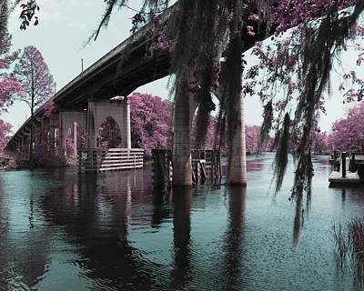 Waccamaw River Bridge In April Infrared Print by MM Anderson