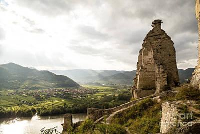 Durnstein Photograph - Wachau Valley Ruins by Rhonda Krause