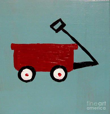 Radio Flyer Wagon Painting - Wagon by Wendy Barritt