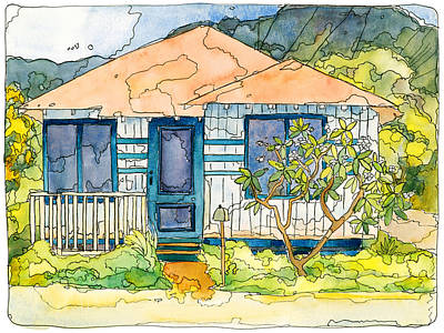 Banana Mixed Media - Waianae House by Stacy Vosberg