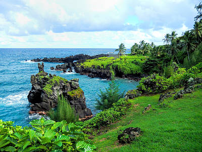 Haleiwa Photograph - Wai'anapanapa Cliffs View by Stacy Vosberg