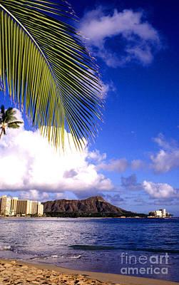 Waikiki Photograph - Waikiki Beach Diamond Head by Thomas R Fletcher