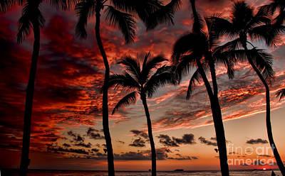 Waikiki Photograph - Waikiki Sunset by David Smith