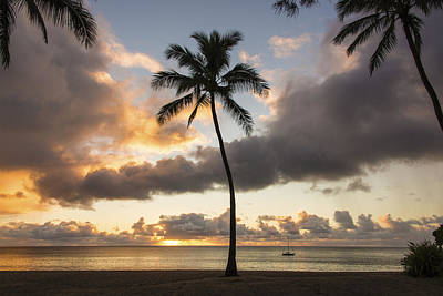 Waimea Beach Sunset - Oahu Hawaii Print by Brian Harig
