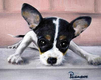 Chihuahua Painting - Wait For Me by Beverly Pegasus