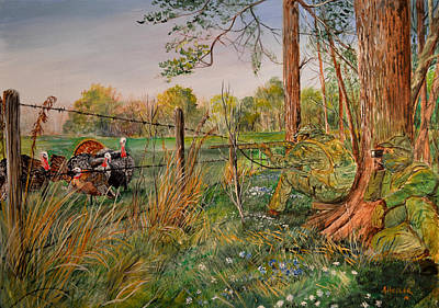 Wildlife Celebration Painting - Wait   Wait   Okay by Alvin Hepler