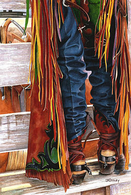 Chaps Painting - Waitin' by JK Dooley