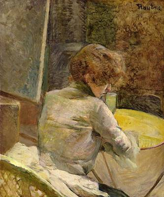 Turn Painting - Waiting At Grenelle by Henri de Toulouse-Lautrec
