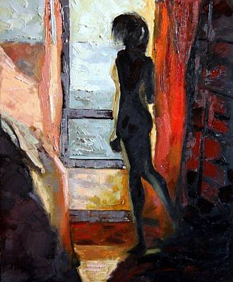 Nud Painting - Waiting - Contre-jour by Magda Urse