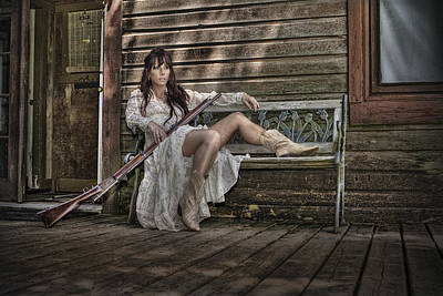 Window Bench Photograph - Waiting by Naman Imagery