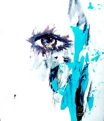 Waiting Eye Print by Trilby Cole