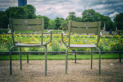 Empty Chairs Photograph - Waiting For Lovers by Georgia Fowler