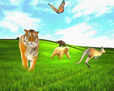 Kangaroo Digital Art - Waiting For Noah by Anthony Caruso
