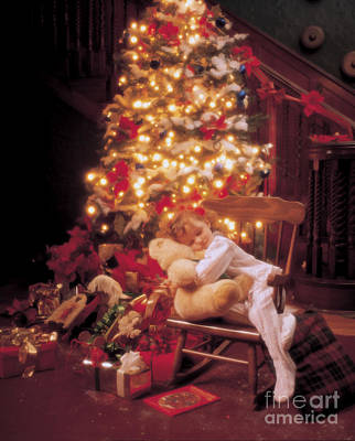 Girls Mixed Media - Waiting For Santa by Jon Neidert