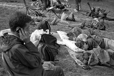 Central Park Photograph - Waiting For Shakespeare 2001 by Dave Beckerman
