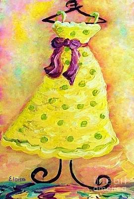 Lime Green Painting - Waiting For Summer - Impressionism by Eloise Schneider