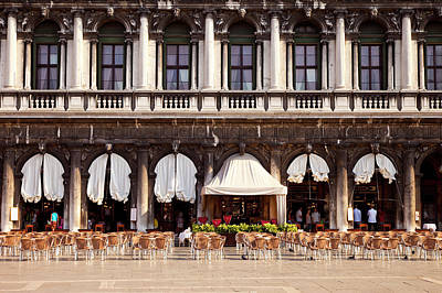 Piazza San Marco Photograph - Waiting For The Customers, Outdoor by Brian Jannsen