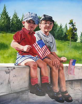 Waiting For The Parade Print by Lori Brackett