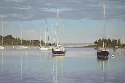 Sailboat Painting - Waiting For The Wind by Julia O'Malley-Keyes