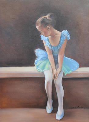 Anxious Painting - Waiting In The Wings by Susan Bradbury