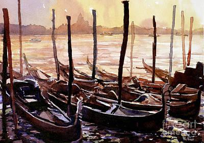 Waiting In Venice Original by Ryan Fox