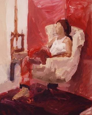 Michael Jackson Oil Painting - Waiting by Marina Sotiriou