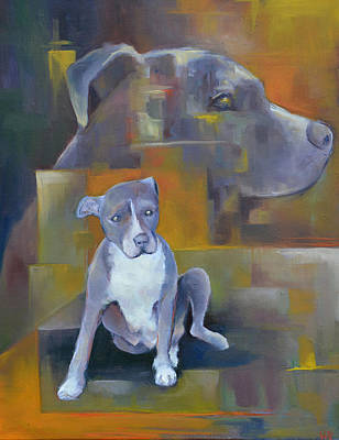 Animal Shelter Painting - Waiting To Save My Human by Melissa Peterson