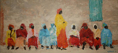 Queue Painting - Waiting To Vote by Willem Arendsz