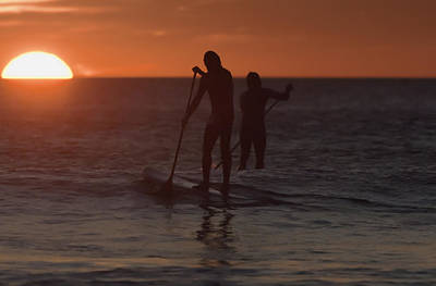 Wakeboarding Photograph - Wakeboarding At Sunset Los Lances Beach by Ben Welsh