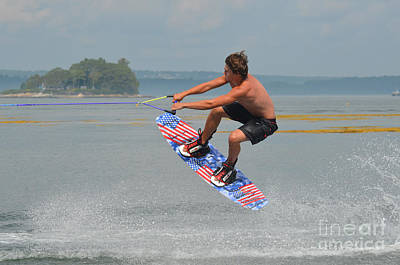 Wakeboarding Photograph - Wakeboarding by DejaVu Designs