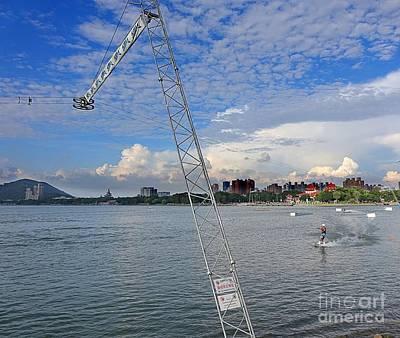 Wakeboarding Photograph - Wakeboarding On The Lotus Lake by Yali Shi