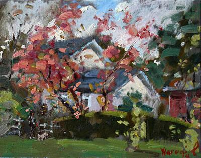 Backyards Painting - Waking The Dog by Ylli Haruni