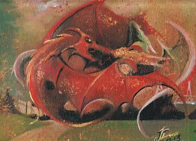 Wales Vs England  Print by Jessica Davies