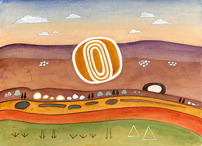 Walk At Mootwingee Print by Judith Chantler