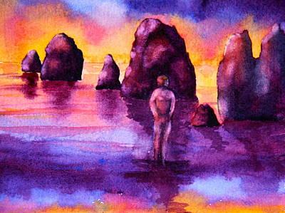 Walk At Sunset Original by Eva Nichols